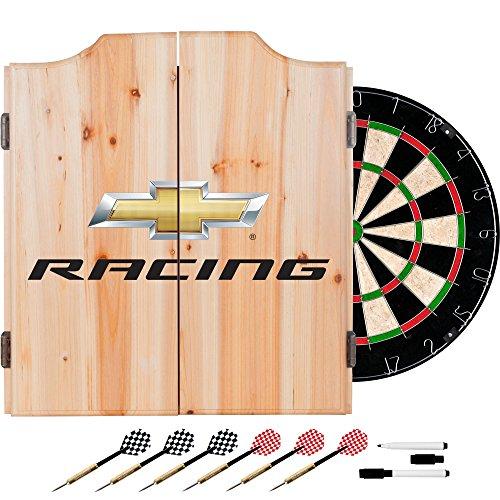 Trademark Gameroom Chevy Racing Chevrolet Dart Cabinet Set with Darts & Board by Trademark Gameroom - Racing Chevrolet