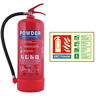 9kg Powder Fire Extinguisher with Extinguisher ID Sign
