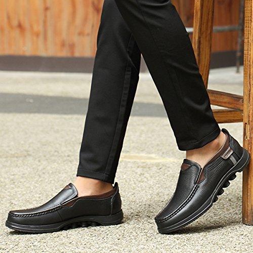Gracosy Mocassini Casual da Uomo Scarpe da Lavoro Smart Classico Ufficio Comfort Mocassini in Pelle Slip On Traspirante Casuale Scarpe Piatte Loafers Mocassini Scarpe Nero