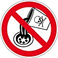 Verbotszeichen - Keine giftigen Stoffe in Abflüsse einleiten - Selbstklebende Folie