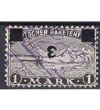 Goldhahn Deutscher Raketenflug 1933 gestempelt kopfstehender Aufdruck Briefmarken für Sammler
