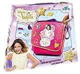 Totum 702004 - Disney Violetta Bastel Set, Umhängetasche zum Selbst Gestalten und Verzieren für Kinder