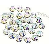 10unidades, EIMASS® Sew En pegamento en, Cut Cristal plana espalda,, Fancy brillantes cristales brillantes