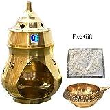 Odishabazaar Brass Aroma Incense Burner Camphor Lamp Aroma Lamp Oil Burner Oil Diffuser