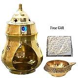 #9: Odishabazaar Brass Aroma Incense Burner Camphor Lamp Aroma Lamp Oil Burner Oil Diffuser