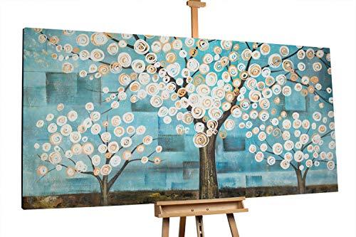 'Magical Forest' 200x100cm | Baum Wald Blau Braun Modern | Modernes Kunst Ölbild