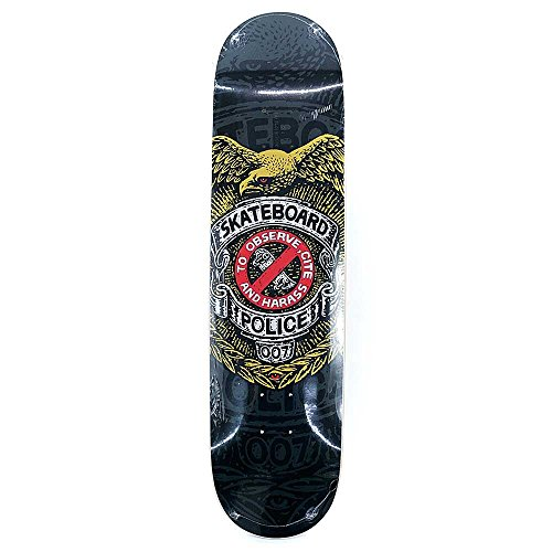 Powell Peralta Skateboard Deck Skateboards Police schwarz 20,3cm (Police Schwarz Gedruckt)