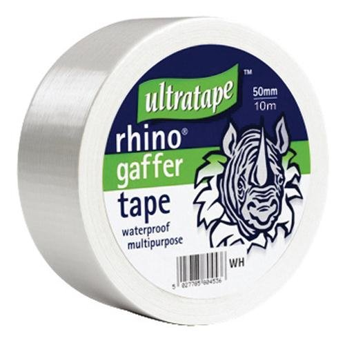 Cloth Gaffer Tape (Wasserdicht) 50mx50mm Weiß 1 Rolle / S