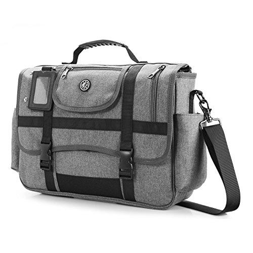 COLLBELL 39,6 cm (15,6 Zoll) Laptoptasche, Umhängetasche, Umhängetasche, Umhängetasche, Umhängetasche, Umhängetasche grau grau 15.6 pouces