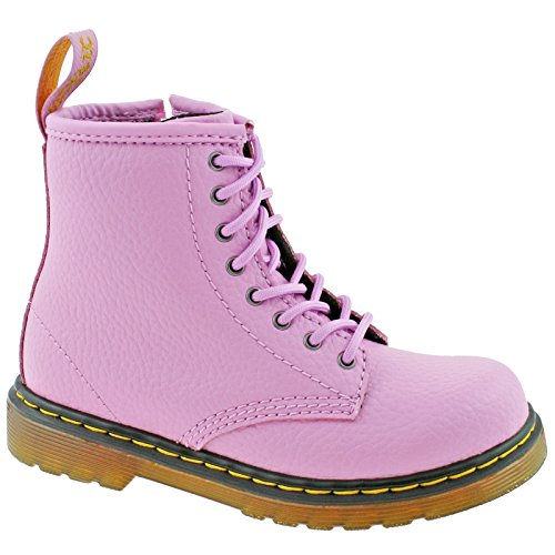 Dr. Martens Kid's Collection Girl's Delaney PBl (Big Kid) Mallow Pink Pebble Lamper 4 M UK