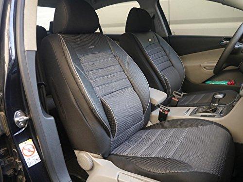 Coprisedili per auto no1 nero-grigio protettori set completo per sedili anteriori e posteriori