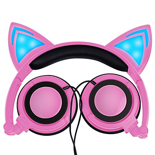 Cat ear headphones pink
