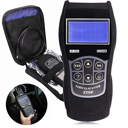 Preisvergleich Produktbild OBD-II Auto Diagnosegerät Universal Diagnose Batterietest Code Scanner für alle Fahrzeug mit OBD2 Protokolle Diagnosegerät für Auto PKW LKW