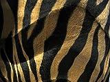 Zebra Stoff dunkel Fell Imitat braun-schwarz Velboa