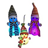 Feelnet - Pupazzo di Neve da Appendere per Albero di Natale, con luci Scintillanti, Pupazzo di Neve Big Snowman Single