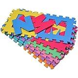 36 Stück Puzzlematte Puzzleteppich Spielmatte für Kinder 86-teiliges Set