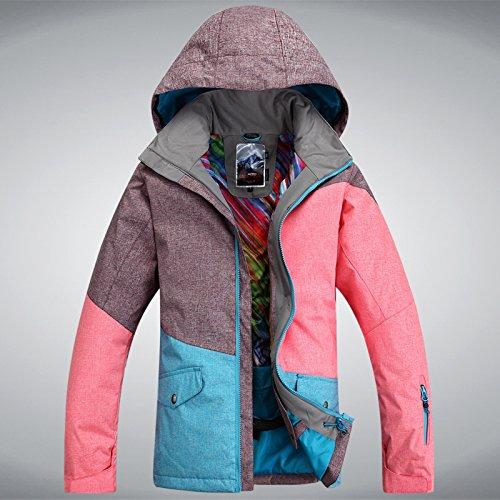 die gsou schnee ski - anzug weibliche mode farbe matte wieben wasserdicht winddichte warme ski - anzug,- 170,003