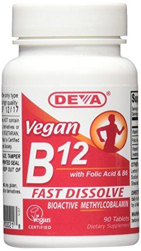 Deva Vegan B12 Sublingual -- 90 Tablets - Vitamin B-12 Tablet-vitamine