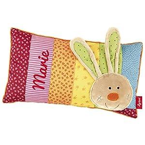 Sigikid 40991 – Babykissen Rainbow Rabbit mit Namen beschriftet