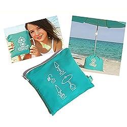 solboy® pied de parasol de plage SÉRIE LIMITÉE (bleu turquoise)