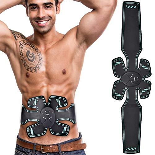 Körperpflege-gesicht (CXQZLH Smart Massagegerät Elektrischer Muskelstimulator EMS Myostimulator Drahtloser Bauchstimulator Fitness Körperpflege, Batteriemodus)