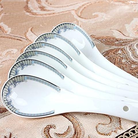 cucchiaio a manico lungo in ceramica bambini bambino cucchiaio di riso cucchiaio mescolando cucchiaio seme piccolo e delizioso cucchiaio creativo