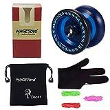 Magic Yoyo Responsive Yoyo K1 yoyos pour Commencer avec Yoyo Sac + 3 Cordes et Yo-Yo Gant Cadeau Blue