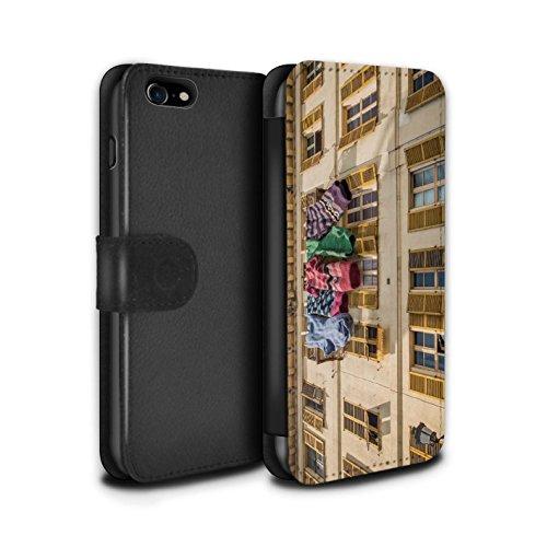STUFF4 PU-Leder Hülle/Case/Tasche/Cover für Apple iPhone 7 / London Overground Muster / Vorstellen Kollektion Schöne Socken