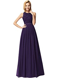 GRACE KARIN Women Evening Ball Gowns Dress Chiffon Wedding Bridesmaid A-line Long Dress UK Size 6~Plus Size 28