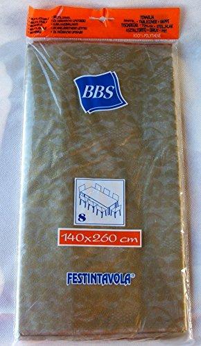 Tovaglia in polietilene oro semitrasparente 140x260 cm B&S