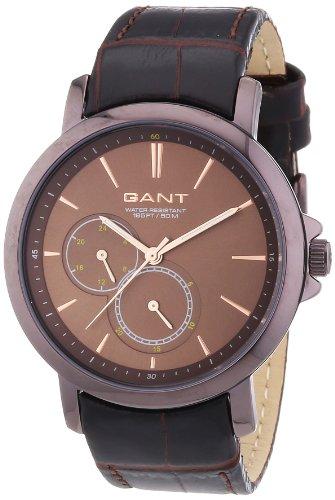 GANT W70483 - Reloj analógico de cuarzo para mujer, correa de cuero color marrón