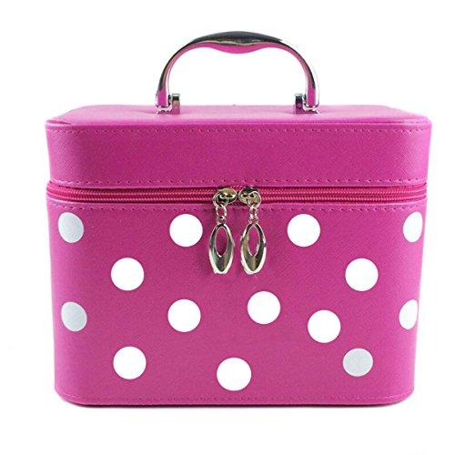 Jiaqing Ladies Grande Capacità Multifunzione Travel Cosmetic Bag Generale Borsa Cosmetica Impermeabile Nylon Portable Red