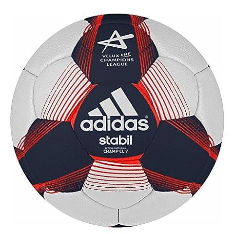 adidas Performance-Ballon de Match Officiel Handball STABIL EHF CHAMP CL7 Blanc G90188