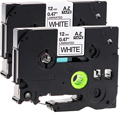 2x Schriftbandkassette für Brother TZe-231 12mm schwarz auf weiß 12mm breit x 8m lang laminiert geeignet für Brother P-Touch 1000W 1010 1090 1830VP 2030VP 2100VP 2430PC 2470 2730VP 7100VP 7600VP H100R H105WB H150WB H300 D200VP D400 D600VP P750W und andere P-Touch Geräte kompatibel zu TZE-231