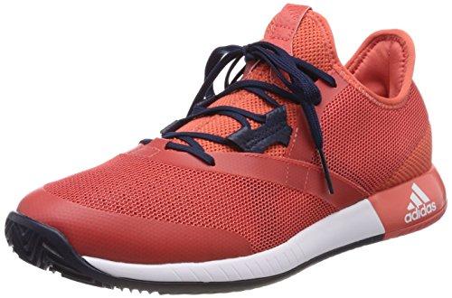 adidas Herren Adizero Defiant Bounce Tennisschuhe, Rot (Trace Scarlet/Footwear White/Night Navy), 46 2/3 EU