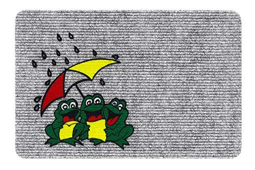 v Fussmatte - Teppich - Sauberlaufmatte - Fußabstreifer - Türmatte - Fußmatte - Schmutzfangmatte - verschiedene Designs - Größe 40 x 60 cm (Frogs - Frösche) ()