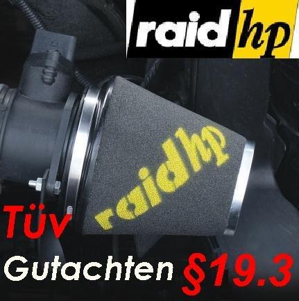 RAID HP Sportluftfilter + 3 Adapter Ringe mit TÜV §19.3 (basierend auf 526320) raid hp Sportluftfilter Formula Alfa 156 2.0i / Typ 932 155 PS