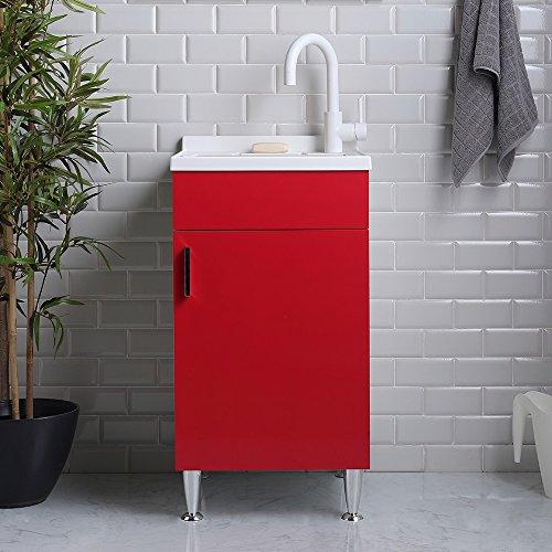 Mobile pilozza lavapanni 45 x 50 design moderno su piedini per interno lavanderia