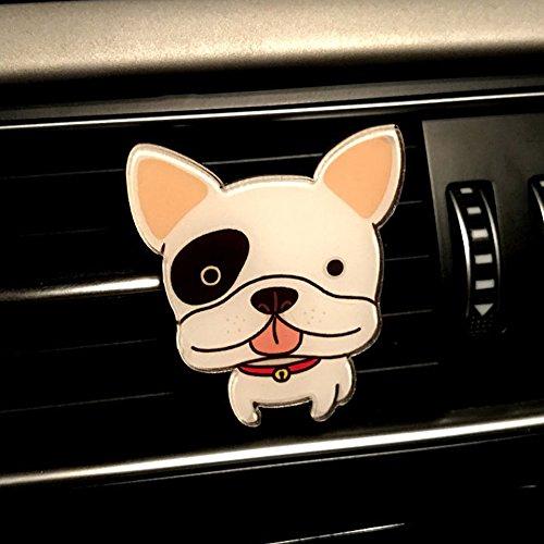 Swiftswan Auto Car Deodorante per auto Carino Cani Forma Auto Aria condizionata Vent Profumo (Colore: multi-colori)