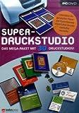 Super-Druckstudio - Das Mega-Paket mit 30 Druckstudios, DVD-ROM Für Windows 98/ME/2000/XP. Unterstützt die gängigsten Papier- u. Kartenformate sowie Label-Drucker