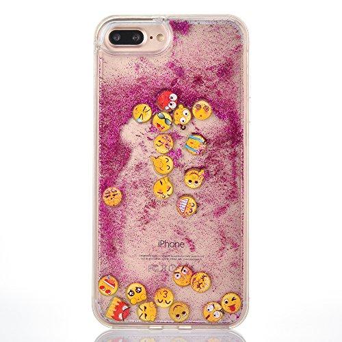 Voguecase® Pour Apple iPhone 6 Plus/6S Plus 5,5, Luxe Flowing Bling Glitter Sparkles Quicksand et les étoiles Hard Case étui Housse Etui(Triangle Quicksand-Argent) de Gratuit stylet l'écran aléatoire  Noctilucent-QQ expression 01-Rose