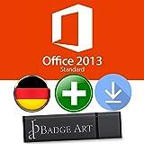 Microsoft Office 2013 Standard ISO USB. 32 bit & 64 bit - Original Lizenzschlüssel mit USB Stick von Badge Art