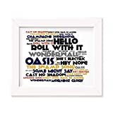 Oasis Poster Print - (What's The Story) Morning Glory? - Testo regalo firmato poster d'arte