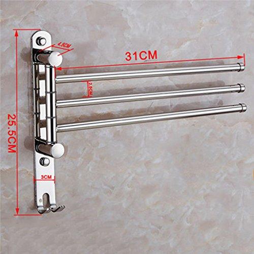 Preisvergleich Produktbild ZXS Handtuchhalter, edelstahl-badezimmer faltbar schwenkbar handtuch bar-B