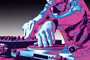 Art Maxi Poster featuring Neon Turntables in Baby Blue and Electric Pink, DJ Heaven 91.5x61cm