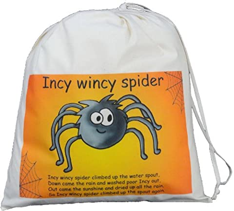 Incy Wincy Spider - Large Cotton Drawstring Storage Bag - Teaching Resource Sack. - SUPPLIED EMPTY
