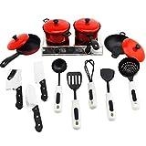 calistouk Kids Toys Artificial vajilla utensilios de cocina de niño macetas casa