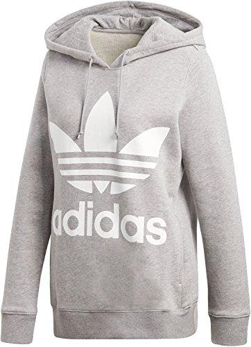 buy online 111c0 b525a ... 36 Adidas CY6665, Felpa con Cappuccio Donna, Grigio, ...