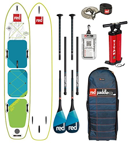 Red Paddle Co 2018 15.0' VOYAGER TANDEM MSL Set Package Stand Up Paddle Touring 2 Stück Carbon Paddel