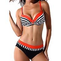 FITTOO Damen Push up Triangle Bikini-Set mit Bügel Zweiteiler Strand  Bademode Badeanzug f054647e1a